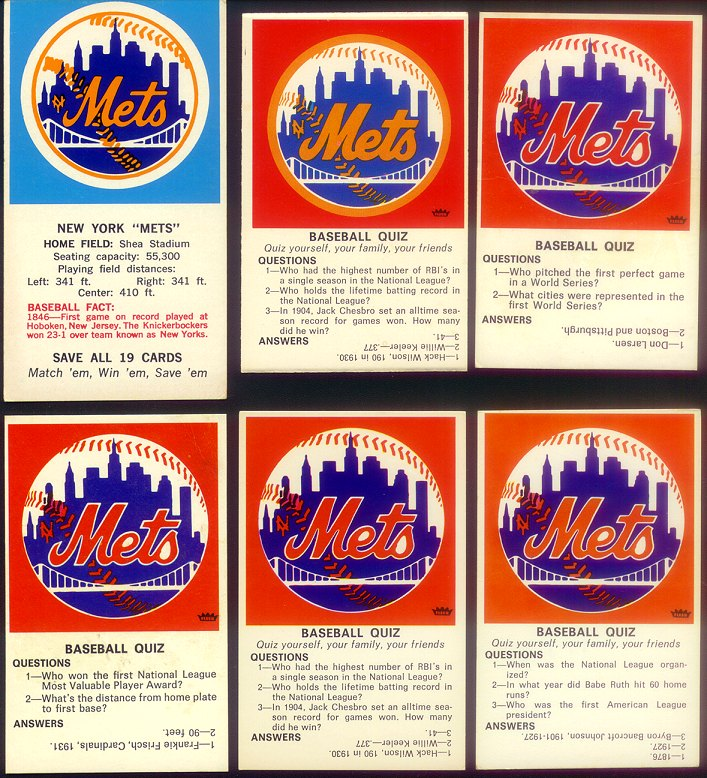1970s Fleer Decals Baseball Quiz Card Info Wanted